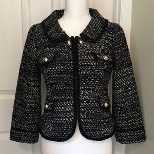 Ann Taylor LOFT Tweed Cropped Blazer Jacket